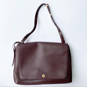 Dagne Dover Simone Leather Work Satchel Oxblood